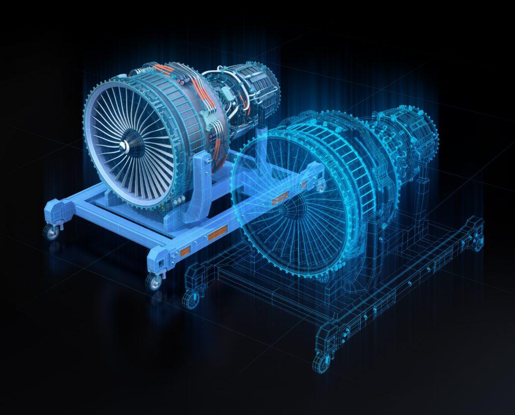 jumeaux numérique de moteur d'avion